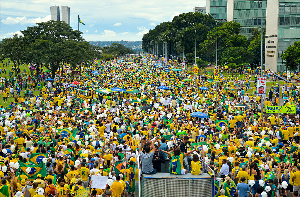 Protesters to Brazil's Congress on 13 March 2016. (Photo Credit: Agencia Brasil fotografias)
