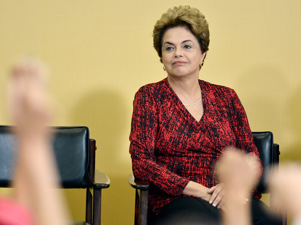 President Rousseff at press conference (Photo Credit: Getty)