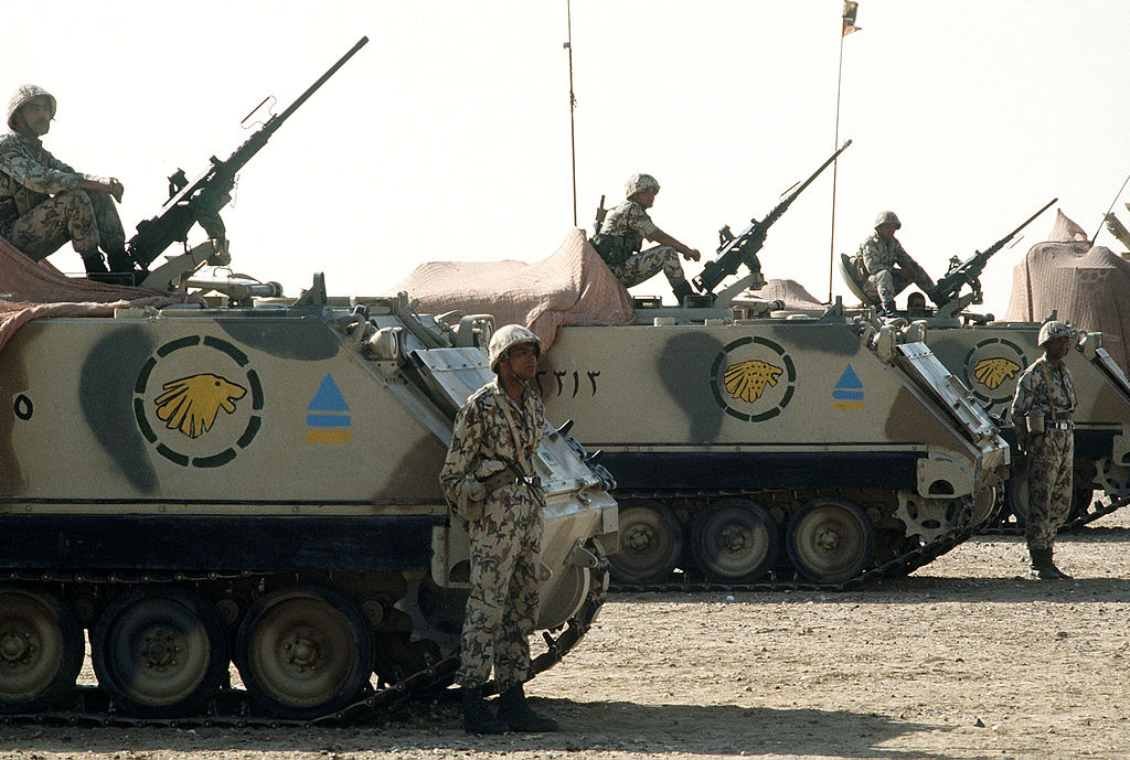 Egypt Ground Forces with M-113 Armoured Personnel Carriers (Photo Credit: Tech. Sgt. H. H. Deffner)