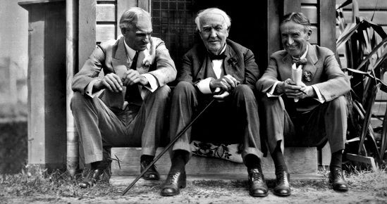 Henry Ford, Thomas Edison and Harvey Firestone (Photo source: The Ford Motor Company)