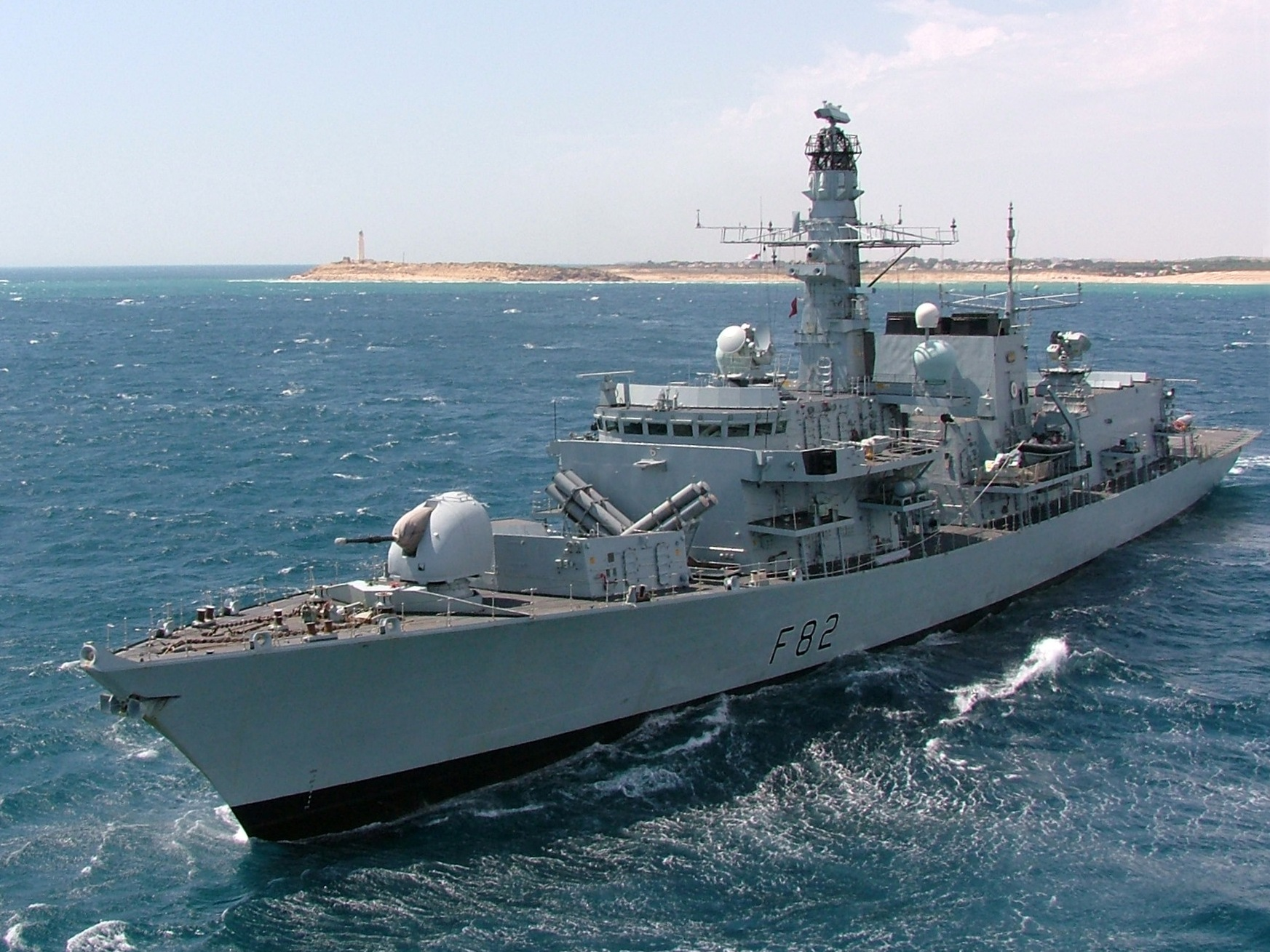 The HMS Somerset (F82) belonging to the Royal Navy (Photo Credit: Wikipedia)