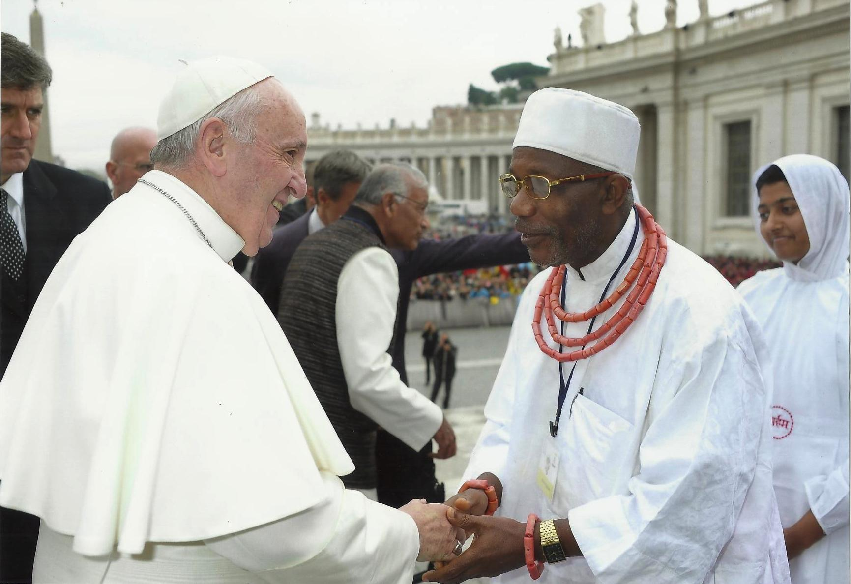 Chief Isekhure meets Pope Francis