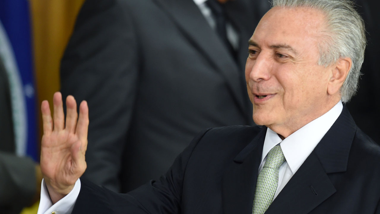 Michel Temer has vowed to put Brazil 'back on rails' (Photo Credit: AFP)