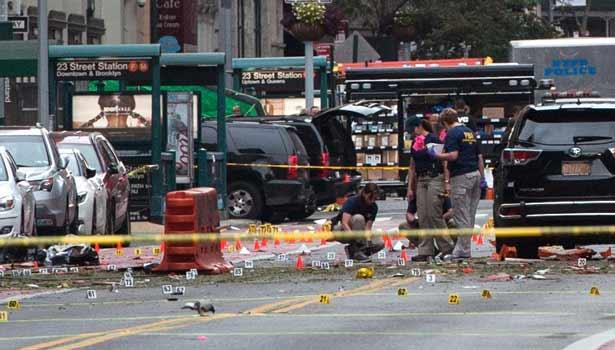 Scene of the New York Blast (Photo: Stephane Keith/Getty)