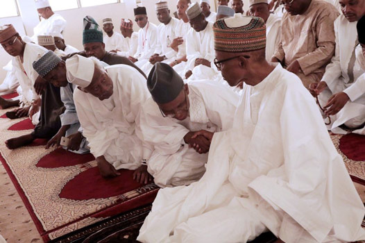 Buhari at Juma'at service